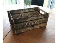 Ginger-Ray 'Love' Wooden effect Crate - favours, confetti, sweets.
