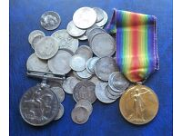 COINS STAMPS MEDALS BANKNOTES SMALL COLLECTABLES PLEASE CALL PETE ON 07979808744
