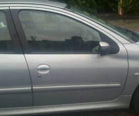 Peugeot 206 drivers side car door