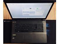 """Clevo W370ET Gaming Laptop 17.3""""(i7-2.70-3.70GHz(turbo),8GB RAM,120 SSD+1TB HDD,GeForceGTX 660M-2GB)"""