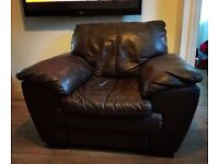 Brown Leather DFS Armchair