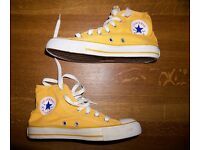 Yellow Converse All Stars Ladies' Size UK 5