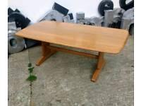 Large Retro Ercol Windsor Coffee Table