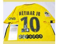 Neymar signed PSG away shirt 17/18 with Coa