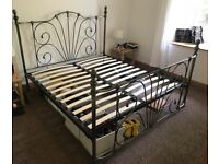 Serene Jessica Super King Nickel Metal Bed Frame in excellent condition