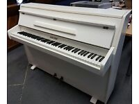 White Zender Upright piano