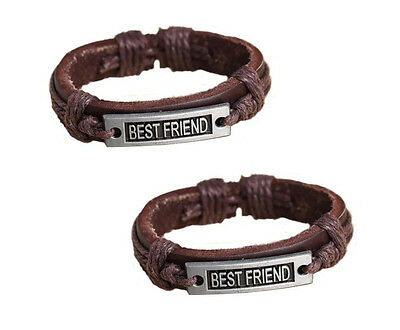 Best Friend 2 Pieces Bracelet Brown Dark Brown Friendship bracelets