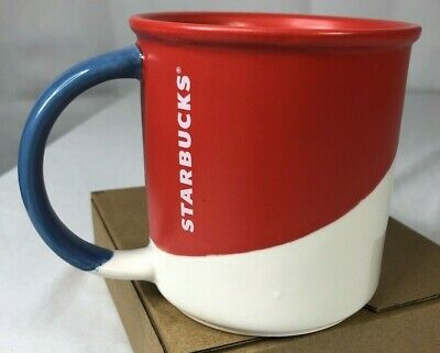 Starbucks Red White Blue Coffee Mug 2017 Classic Cup 12 Fl oz Ceramic