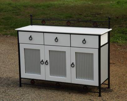 Rustic look upcycled buffet cabinet-Delivery Available
