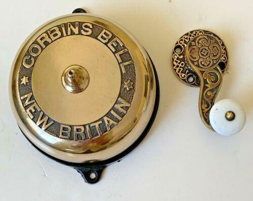 1872 Corbins  Brass Crank Type Doorbell