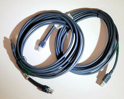 Lot 2 Usb Cable 6ft For Symbol Barcode Scanner Ls2208 Ls4208 Cba-u01-s07zar