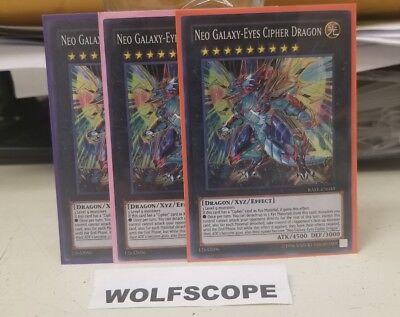 Yugioh RATE-EN049 Neo Galaxy-Eyes Cipher Dragon Super Rare Unlimited Edition