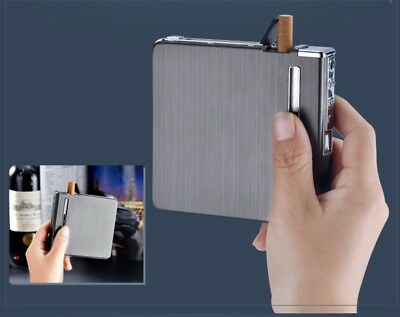 Cigarette Case Automatic dispenser built in  Electric Lighter USB 20 short cigs