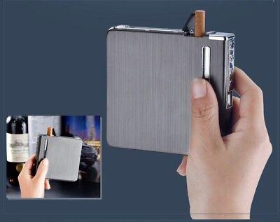Cigarette Case Automatic dispenser built in  Electric Lighter USB 20 short cigs