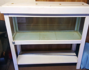 4foot fish tank on white wooden stand Blakeview Playford Area Preview