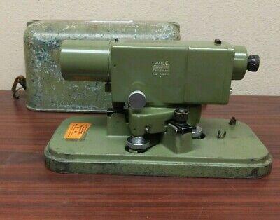 Vintage Wild Heerbrugg Leica Na2 Surveying Level Equipment Precise Level Case