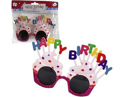le Brille Happy Birthday Geburtstagsfeier bunt Spaßbrille (Happy Birthday Brille)