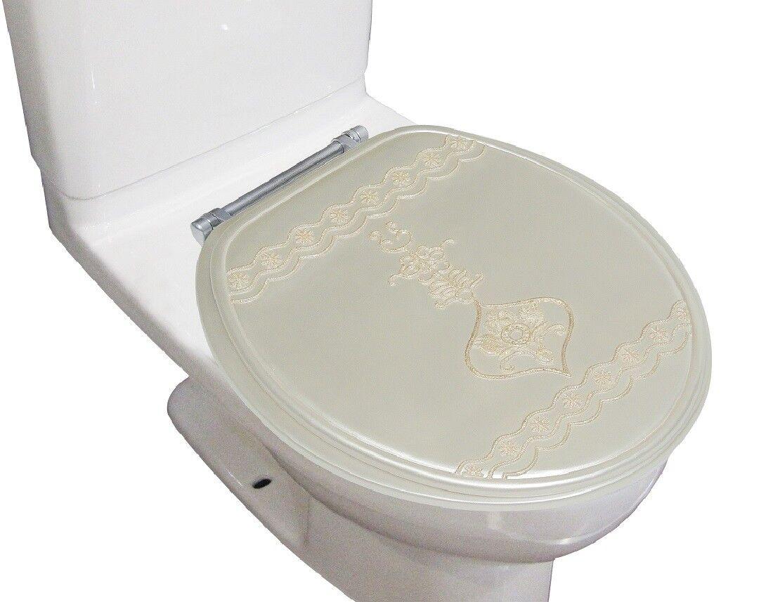 "Heavy Duty Decorative Round Toilet seat Round 17""Inch Seat"