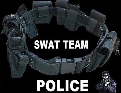 SWAT TEAM POLICE  TACTICAL DUTY BELT Officer Security Guard  Gear - Police Officer Belt