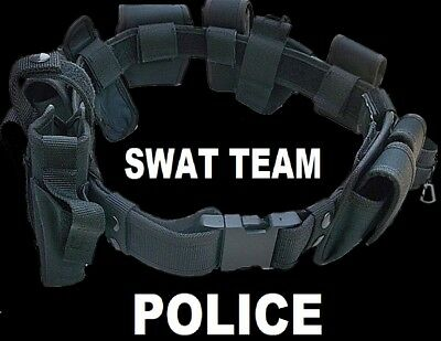 SWAT TEAM POLICE DUTY BELT Officer Security Guard Law Enforcement Equipment Gear - Police Officer Belt