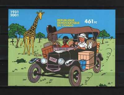 Belgisch Congo Belge Rep. Congo n° BL205 imperf. MNH MS Tintin Kuifje c60.00Eu