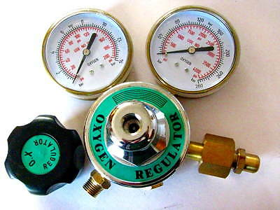 Oxygen Premium Regulator 3 Gauges For Torch Welding Brazing Cutting Medical