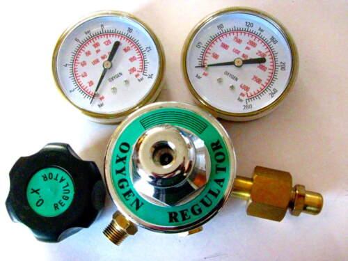 "Oxygen Premium Regulator, 3"" Gauges for torch Welding, Brazing, Cutting, Medical"