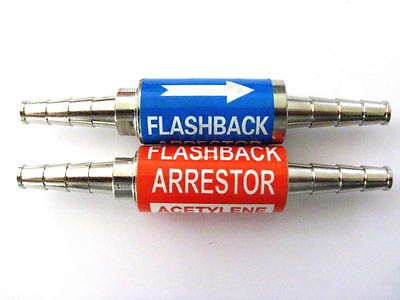 Oxygenacetylene Flashback Arrestor Set 38 Barbs Torch Welding Iso 9001 Cert