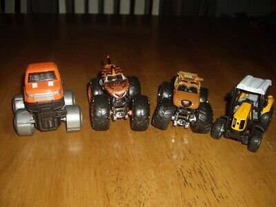 EUC Lot of Toy Die Cast Monster Trucks 1 Tractor Scooby Doo Tiger Shark Jaws
