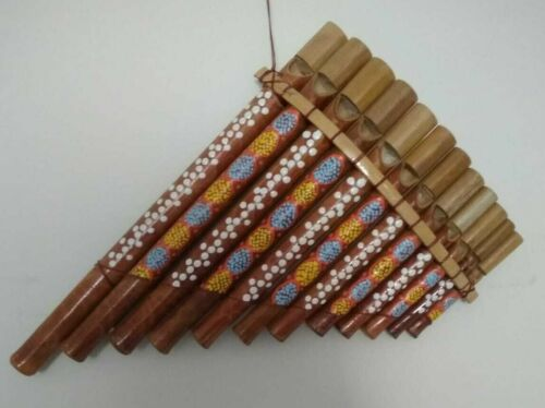 Woodwind Pan Flute 12 Maple Bamboo Pipes Flutes Musical Instruments Decorative