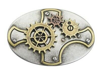 Steampunk Moving Gear Plate Concho, 30mm (1-3/16