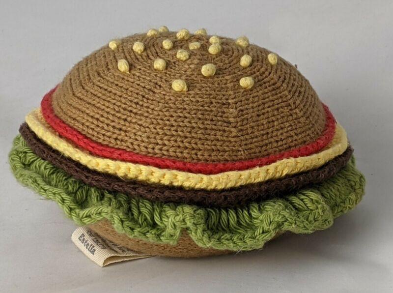 Estella Organic Baby Toy Rattle Cheeseburger Rattle 100% Organic Cotton