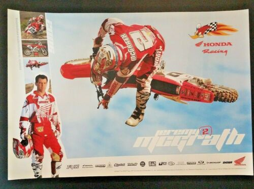 Vintage Jeremy McGrath Honda Racing Poster 2006 Motocross Supercross Motorcycle