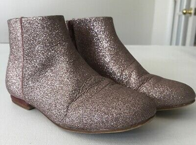 Zara Girls Boots Sparkle Glitters Pink Shoes size 35 / 3  - Girls Pink Sparkle Boots