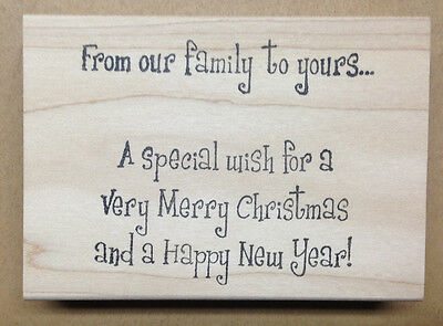 (Mounted Rubber Stamp, Christmas Stamps, Family, Merry Christmas & Happy New Year)