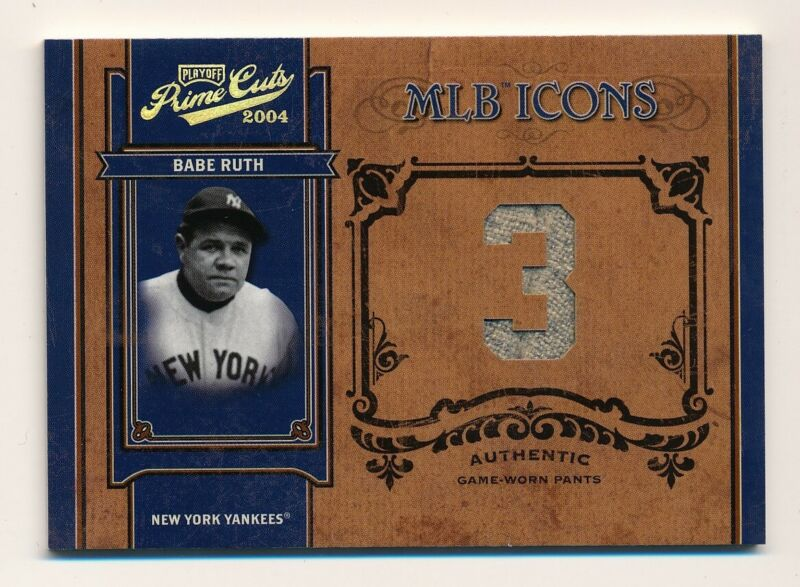 the best attitude 44e96 302be Details about 2004 Prime Cuts * BABE RUTH * Game Used Jersey * MLB ICONS *  #35/50