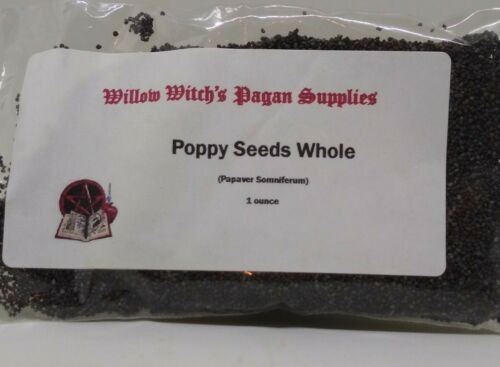 Poppy Seeds whole  1 oz Wicca Herbs Witchcraft Hoodoo Santeria Magical Supplies