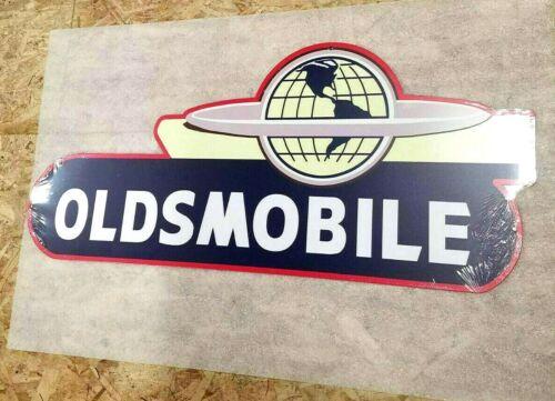 "GIANT 35"" Display Oldsmobile car planet auto company logo USA STEEL PLATE sign"