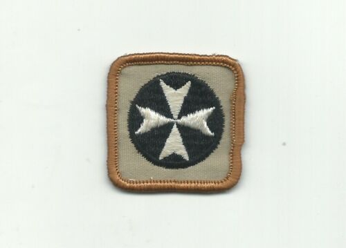 BJ SCOUT CANADA FIRST AID PROFICIENCY BADGE CANADIAN INSIGNIA BRN RE GAUZE BACK