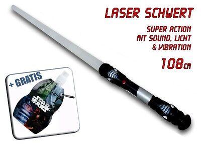 Laserschwert Lichtschwert Sound Licht Vibration mit Star Wars Trinkbeutel