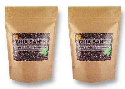 Chia Samen 2kg, ChiaDE, (2x1kg) Super Chiasamen. Nur beste Qualität