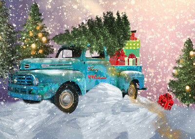 1000 Pcs Puzzle Xmas Tree Gifts Rustic Truck Jigsaw Adult Kid Educational Toys