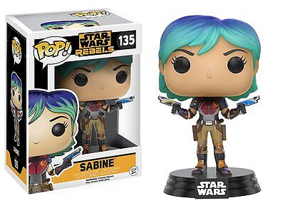 POP! Star Wars Rebels:Sabine Vinyl Figure #135 by Funko