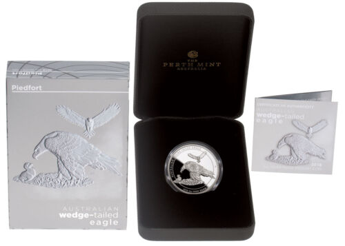 2018-P Australia 2 oz Silver Wedge-Tailed Eagle Piedfort GEM Proof OGP SKU54966