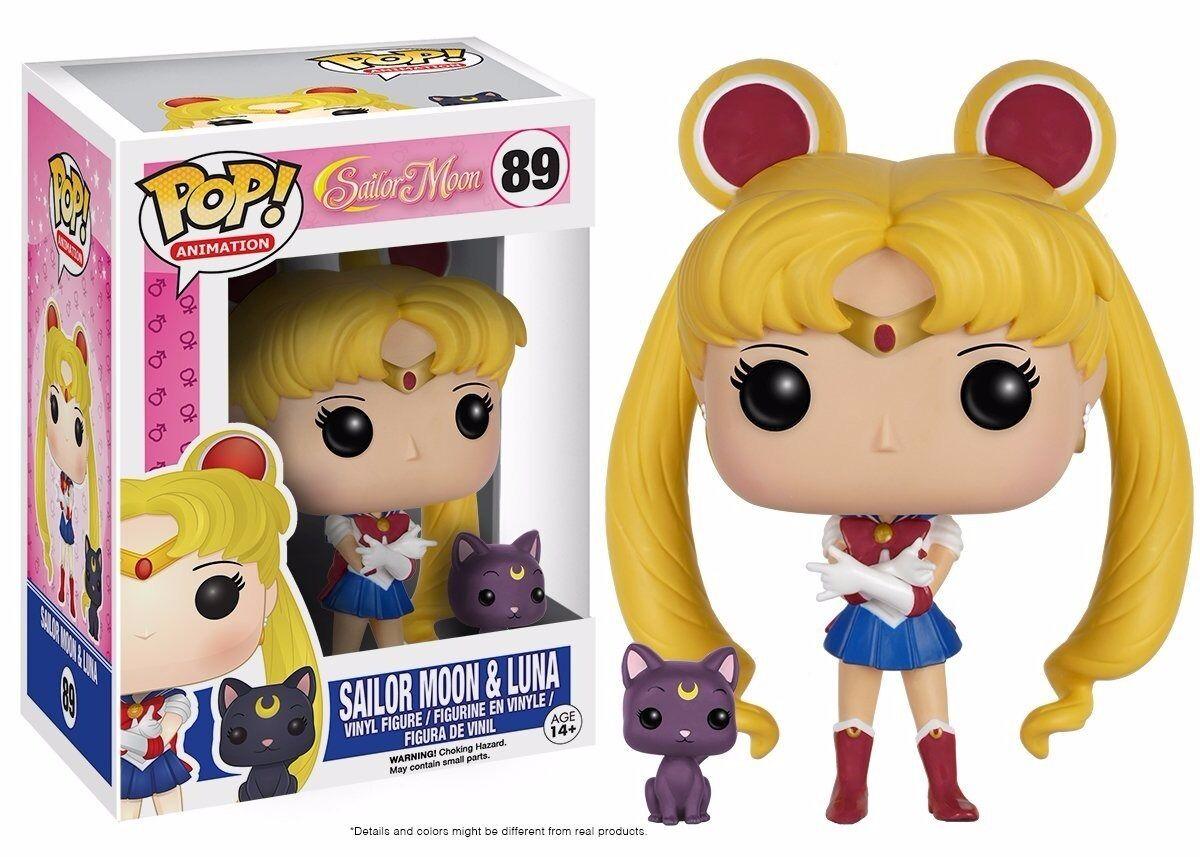 Funko Pop! Anime : Sailor Moon with Luna Vinyl Action Figure