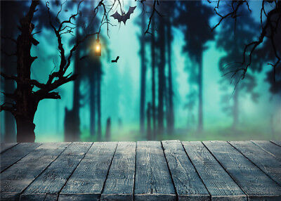 Fantasy Scene Spooky Halloween Night5X3FT Vinyl Studio Backdrop Photo Background - Halloween Spooky Backgrounds