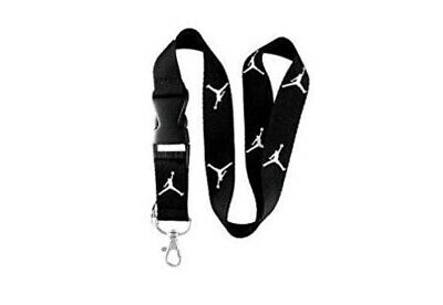 Michael Jordan Jumpman Black & White Buckle Keychain Holder Lanyard