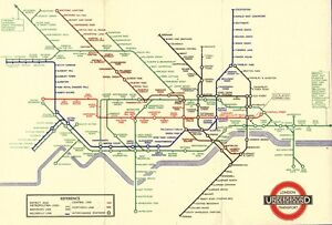 Framed Print - Vintage London Underground Tube Map Circa 1938 (Replica Picture)