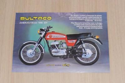 BULTACO MERCURIO 175 GT Motorcycles Sales Specification Sheet c1979 #17534001