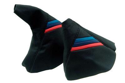 For Bmw E46 99-05 SMG Automatic Shift /& E brake Boot Black Leather M3////// Stitch